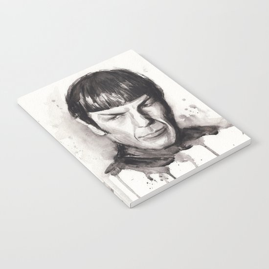 Spock Star Trek Notebook