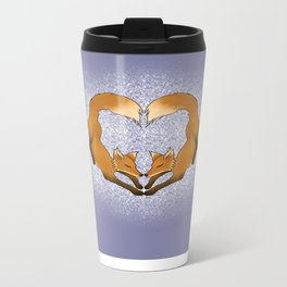 Heartful Foxes Metal Travel Mug