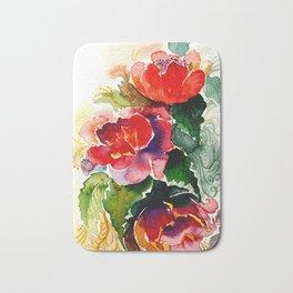 Sumptuous watercolor flowers Bath Mat