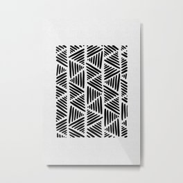 Black and White Abstract I Metal Print