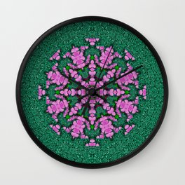 the most uniqe flower star in ornate glitter Wall Clock