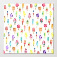 popsicle Canvas Prints featuring Popsicle by Golden Girl Art