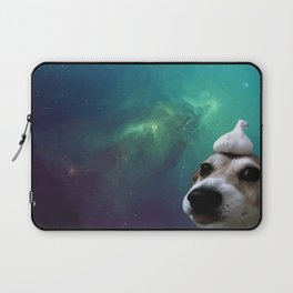 Dog, Garlic & Space Laptop Sleeve