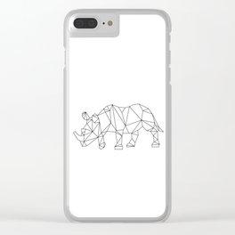 Geometric Rhino Design Clear iPhone Case