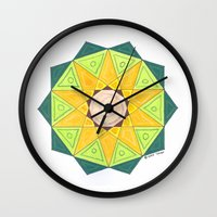 turtle Wall Clocks featuring Turtle by Tehaya