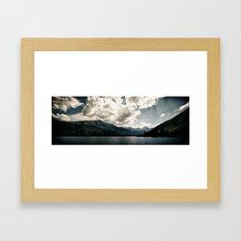 Lower Twin Lake (Color) Framed Art Print