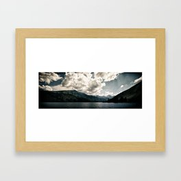 Lower Twin Lake (Color) Framed Art Print