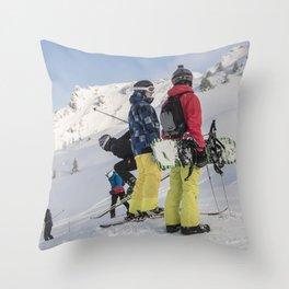 Skiers 2017 Throw Pillow