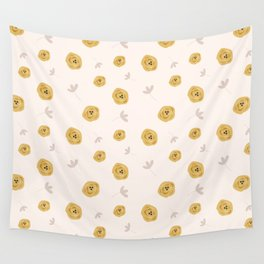Yellow Floria Wall Tapestry