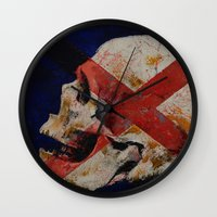 dragon age inquisition Wall Clocks featuring Inquisition by Michael Creese