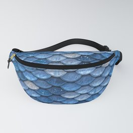 Blue Sparkling Glitter Mermaid Scales - Mermaidscales Fanny Pack