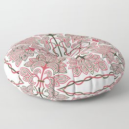 red-green expression Floor Pillow