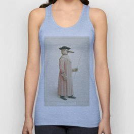 Vintage Plague Doctor Illustration, 1910 Unisex Tank Top