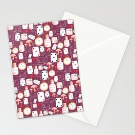 Alice in Wonderland - Purple Madness Stationery Cards
