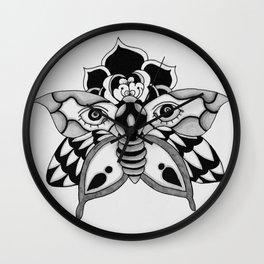 butterfly ink Wall Clock