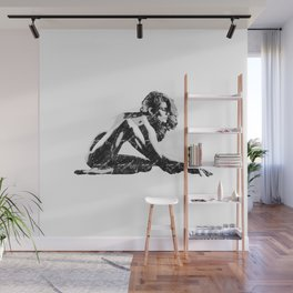 Woman flexing Wall Mural