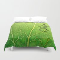 lizard Duvet Covers featuring lizard by Antracit