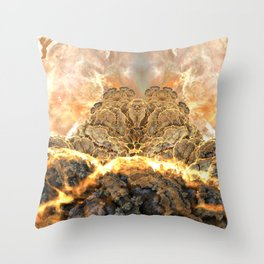 Coral Above the Sun Throw Pillow