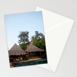 Thailand Swimming Pool and Buildings Photograph Stationery Cards
