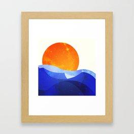 Sun in the Dunes Framed Art Print