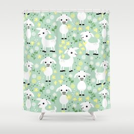 Baby goats Shower Curtain