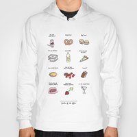 battlestar Hoodies featuring Foods of The Office by Tyler Feder