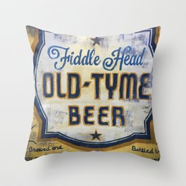 Vermont Brewers Series Fiddlehead Throw Pillow