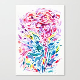 Abstract Roses 2 Canvas Print