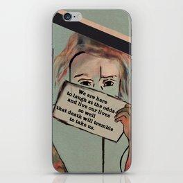 Death will tremble iPhone Skin
