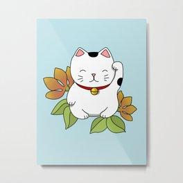 Lucky Cat Metal Print