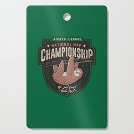 National Nap Championship Cutting Board