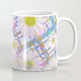 Daisy Plaid Coffee Mug