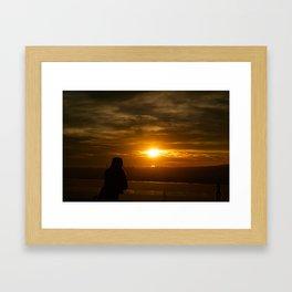 As the sun sets over Los Angeles Framed Art Print