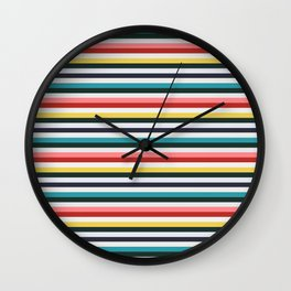 Candy-Strines Wall Clock
