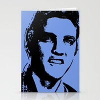 elvis presley Stationery Cards featuring Elvis Presley by Bill Murray