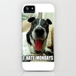 Hate mondays iPhone Case