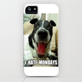 Hate mondays iPhone Case