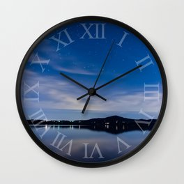 Stars over Middle Creek Wall Clock