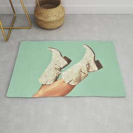 These Boots - Glitter Green Rug