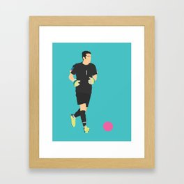 Gigi Buffon Italy Print Framed Art Print