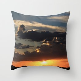 Desert Mountain Sunset VIII Throw Pillow