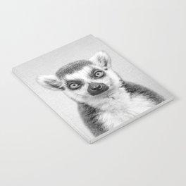 Lemur 2 - Black & White Notebook