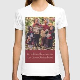 Sing Joyfully Old-Fashioned Christmas Caroling Dolls T-shirt
