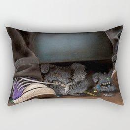 Dust Bunnies Rectangular Pillow