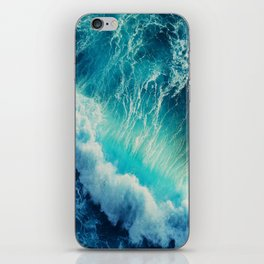 Waving Blue iPhone Skin