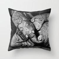 ganesha Throw Pillows featuring Ganesha by Falko Follert Art-FF77