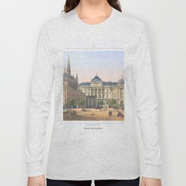 Paris art print Paris Decor office decoration vintage decor PALAIS DE JUSTICE of Paris Long Sleeve T-shirt