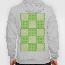 Green Checks - Green Polka Dot and Plain Yellow Hoody