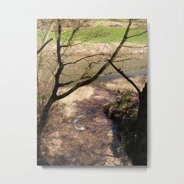 Texture shot of the riverside Metal Print