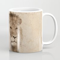 lion Mugs featuring Lion by haroulita
